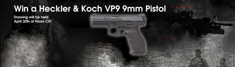GrabAGun Monthly Giveaway - Win a Heckler & Koch VP9 9mm Pistol