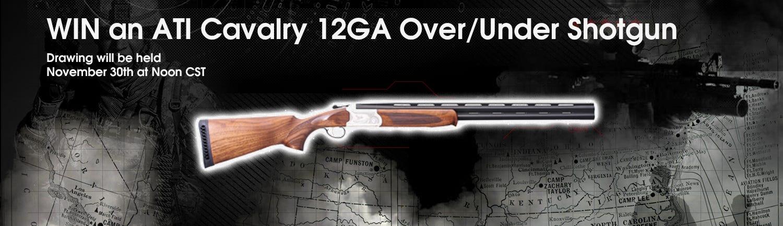 GrabAGun Monthly Giveaway - Win an ATI Cavalry 12GA Over/Under Shotgun