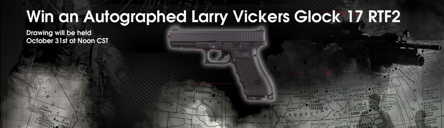 GrabAGun Monthly Giveaway - Win a Larry Vickers Autographed Glock 17