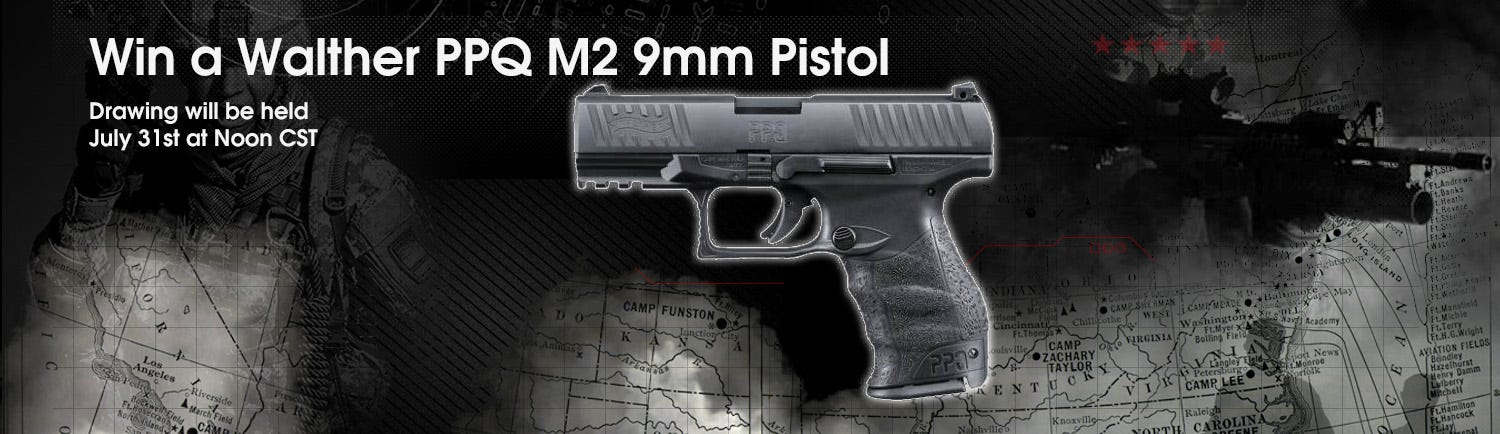 GrabAGun Monthly Giveaway - Win a Walther PPQ M2 Pistol
