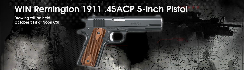 GrabAGun Monthly Giveaway - Win a Remington 1911 .45ACP Pistol