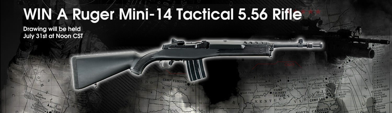 GrabAGun Monthly Giveaway - Win a Ruger Mini-14 Tactical Rifle