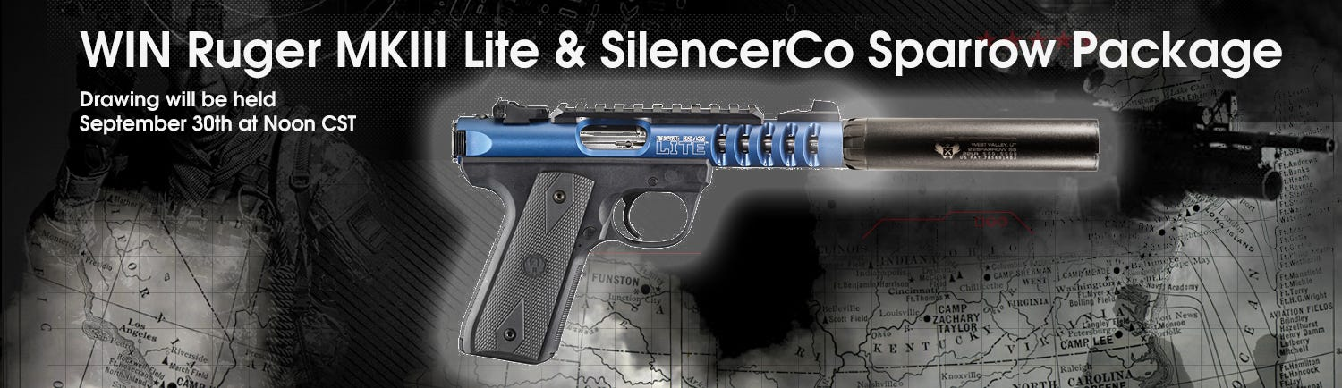 GrabAGun Monthly Giveaway - Win an Ruger and SilencerCo Package