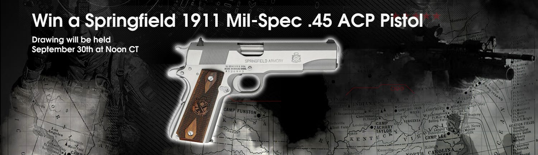 GrabAGun Monthly Giveaway - Win a Springfield 1911 45 ACP Pistol