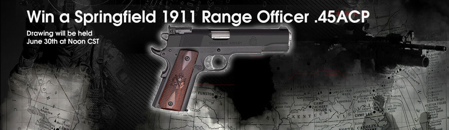 GrabAGun Monthly Giveaway - Win a Springfield 1911 Range Officer