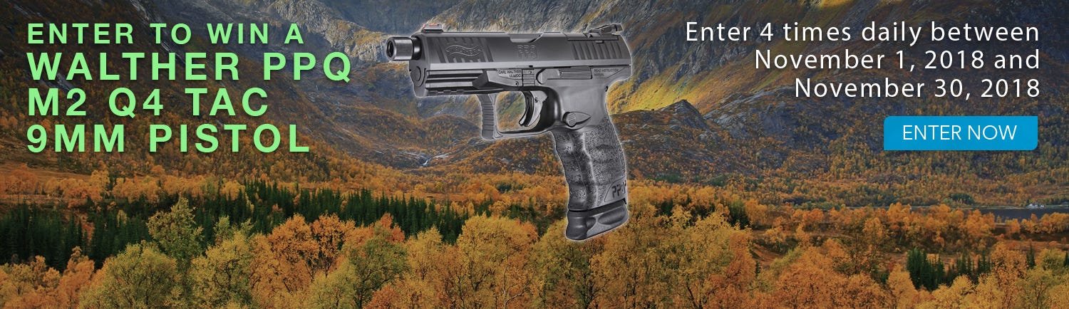 GrabAGun Monthly Giveaway - Win a Walther PPQ M2 Q4 TAC Pistol